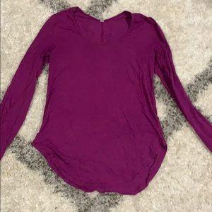 Purple lululemon long sleeve shirt